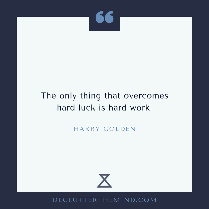 Harry Golden growth mindset quote