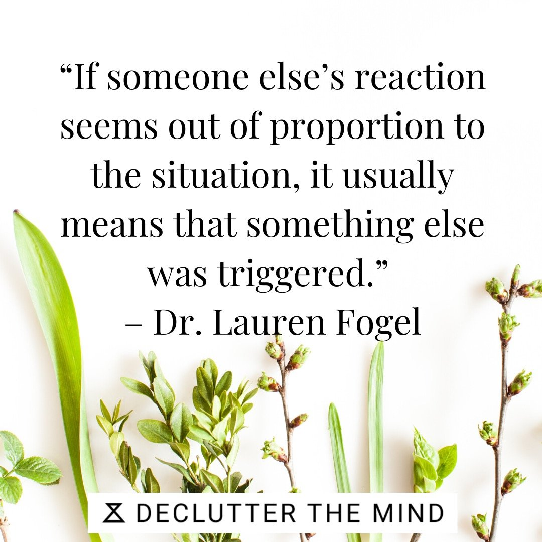 PTSD quote on reacting to a situation