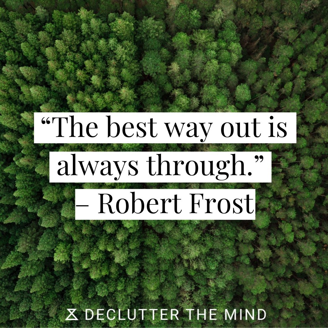 PTSD quote on the best way to get through it