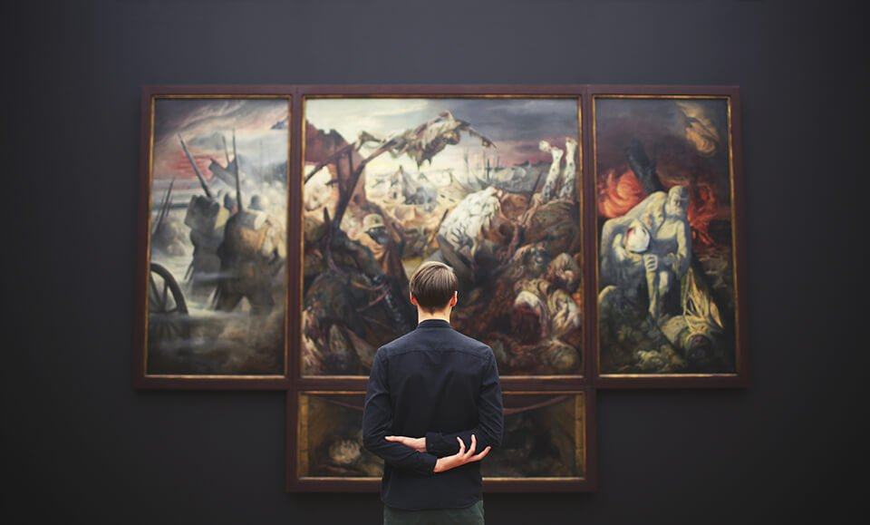 Mindfulness of your visual field while looking at artwork