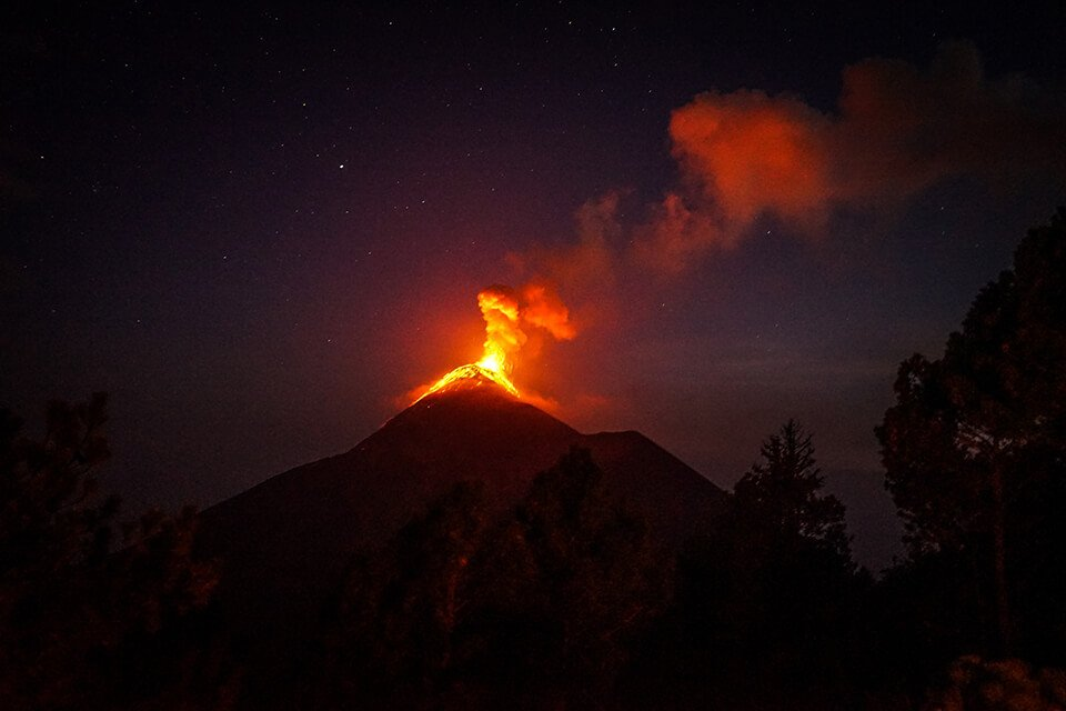 A fiery volcano symbolizing a loss of anger management