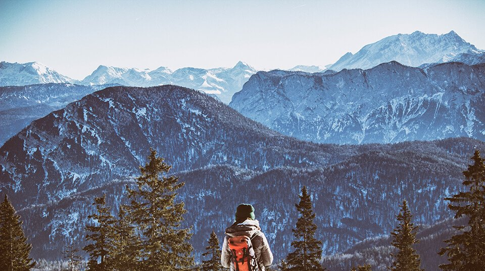 A beautiful mountain range vista