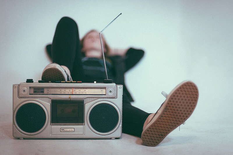 Listening to music to relax