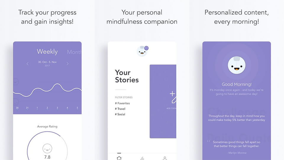 Reflectly journaling app