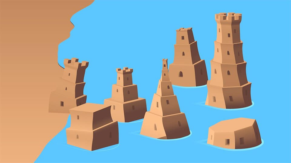 Sandcastles relaxing game