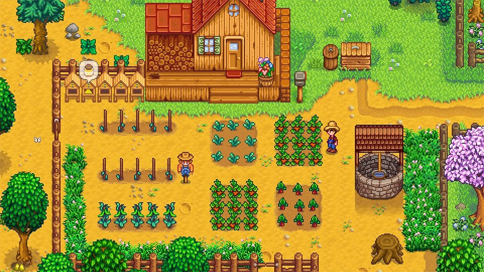 Stardew Valley is my pick for favorite anxiety relief game