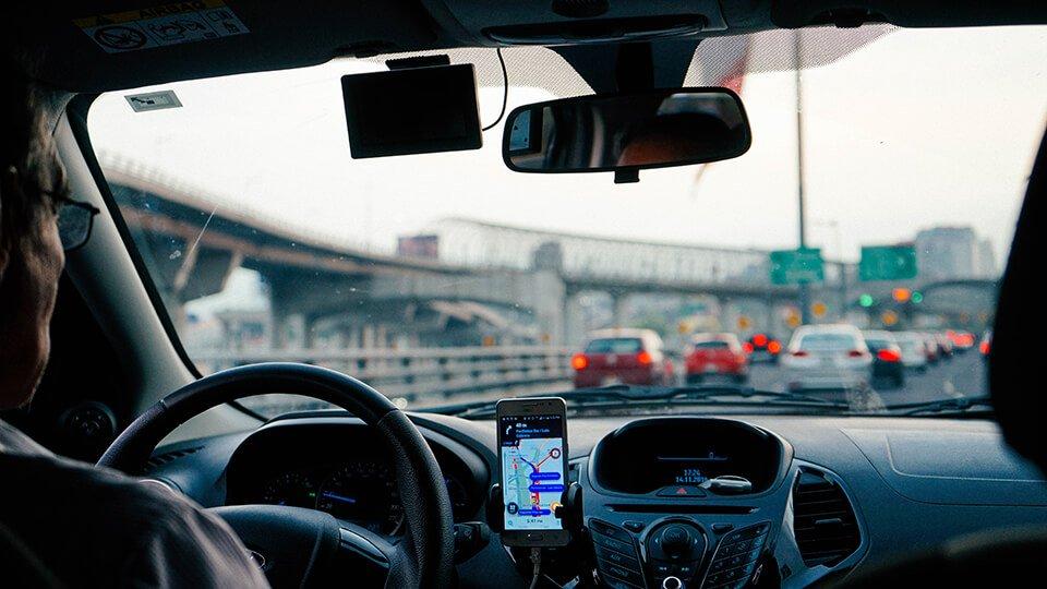 Man driving an Uber